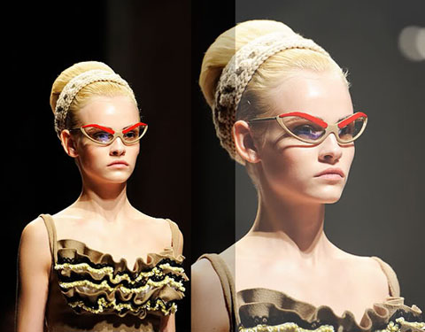 Prada occhiali sopracciglia