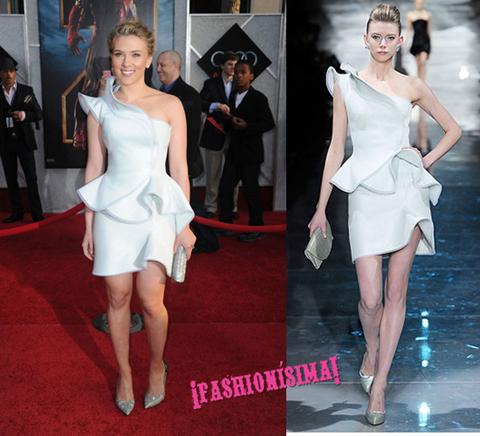 Scarlett Johansson Armani Privè suit
