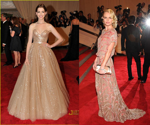 Met Ball 2010 Anne Hathaway Kate Bosworth