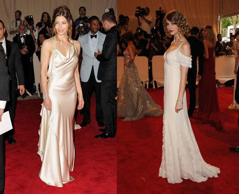 Met Ball 2010 Jessica Biel Taylor Swift