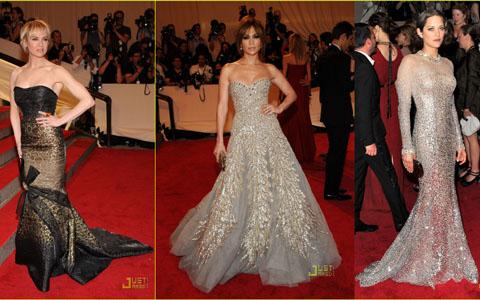 Met Ball 2010 Renè Zellweger Jennifer Lopez Marion Cotillard
