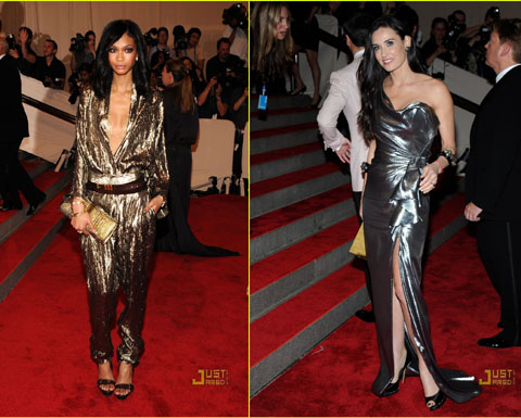 Met Ball 2010 Chanel Iman Demi Moore