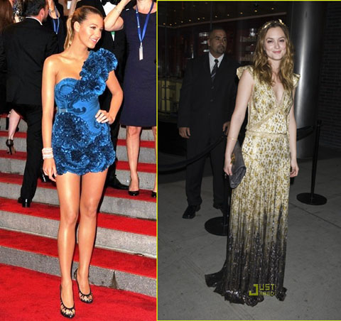 Met Ball 2010 Blake Lively Leighton Meester