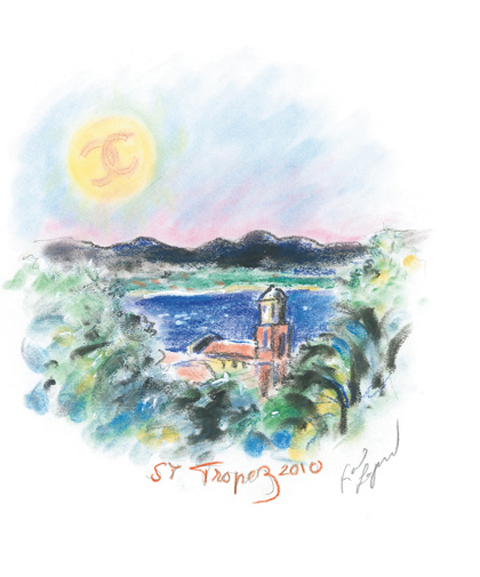Saint Tropez Chanel Cruise 2011 invito