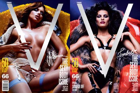 V magazine The sexy body issue