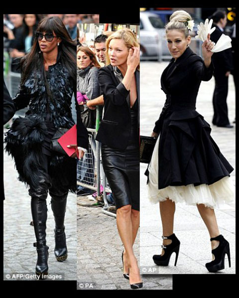 McQueen Londra Kate Moss Naomi Campbell Sarah Jessica Parker