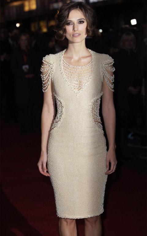 Keira Knightley abito di perle