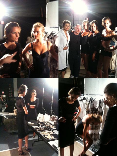 Dolce e Gabbana set backstage