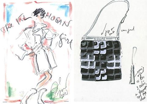 Karl Lagerfeld Hogan sketches