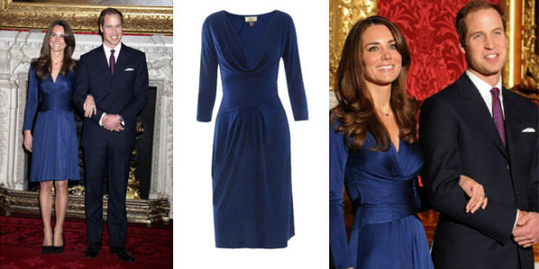 Kate Middleton abito blu Issa