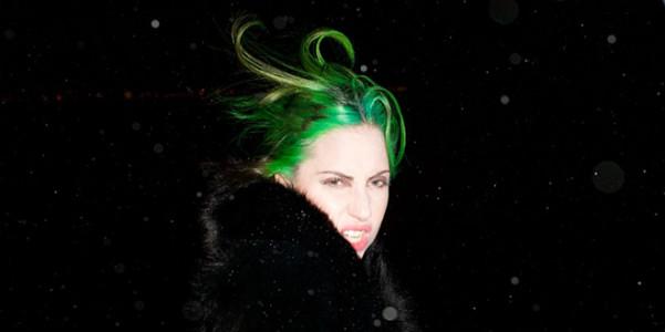 Lady Gaga capelli verdi