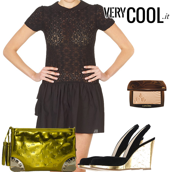 Outfit-black-and-gold