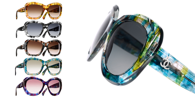 chanel occhiali da sole tweed
