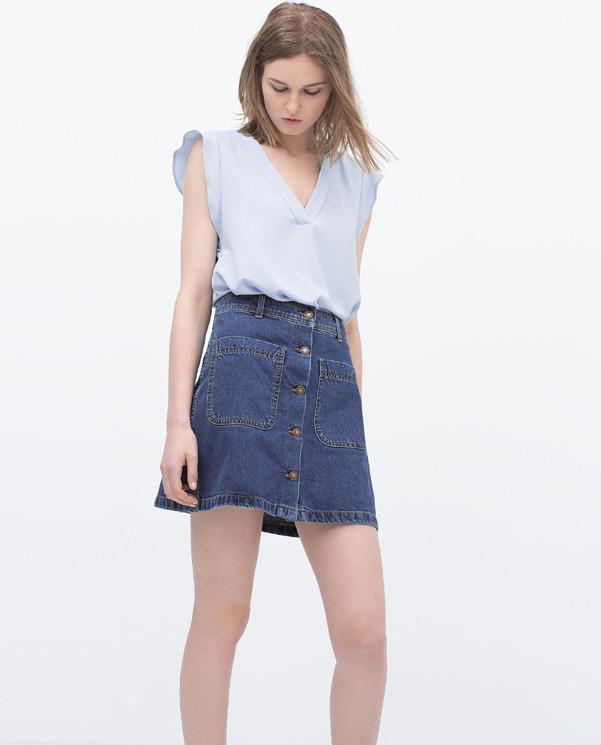 9c581fadb2 gonna-jeans-bottoni-zara | Very Cool!