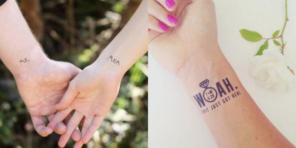 Matrimonio Tema Tatuaggi : Tatuaggi temporanei a tema matrimonio very cool