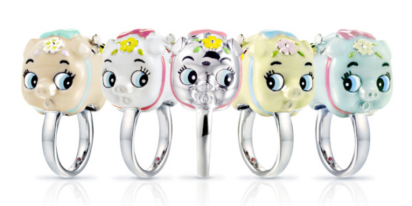 bc joaillerie piggy rings