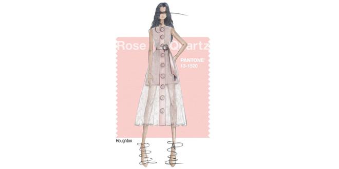rosa quarzo colore anno 2016 pantone