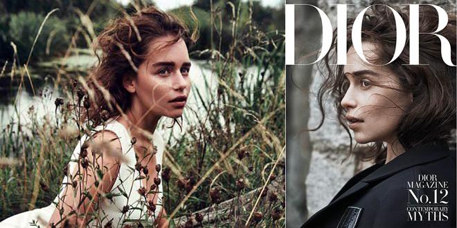 emilia clarke dior magazine