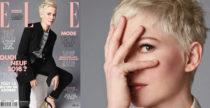 Michelle Williams in Louis Vuitton su Elle France