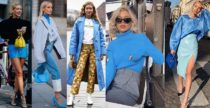 Trend alert: l'azzurro Puffo e lo street-style