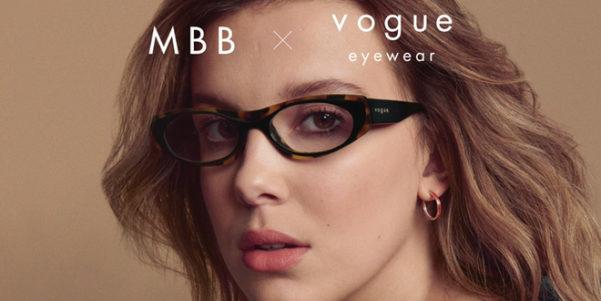 Millie Bobby Brown e gli occhiali per Vogue Eyewear